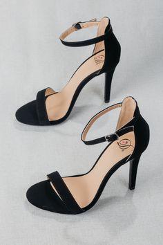 eeb5d374e4a Beautiful Morning Dress Sandal. Black Strap HeelsBlack Stiletto HeelsPeep  Toe ...
