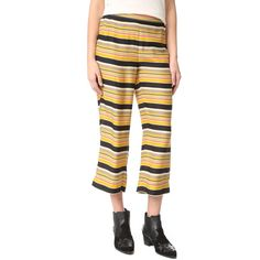 The Great. The Easy Crop Pants ($395) ❤ liked on Polyvore featuring pants, capris, cropped pants, striped trousers, cropped capri pants, stripe pants and cropped trousers