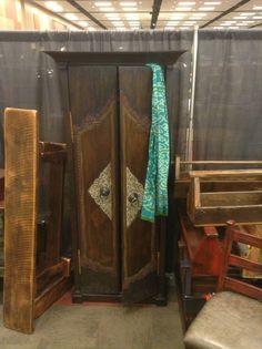 Repurposed Door-Hall Cabinet.