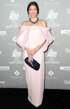 e38710d97 Jessica Biel in Monse with Lorraine Schwartz jewels attends 2015 Baby2Baby  Gala on November 14,