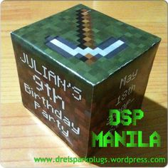 DSP Manila: Minecraft Block Party Invitation by Drei Spark Plugs Little Boy And Girl, Boy Or Girl, Corporate Giveaways, Party Giveaways, Block Party, Spark Plug, Manila, Birthday Invitations, Thank You Cards