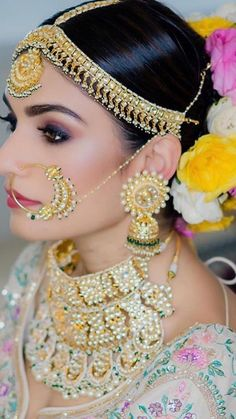 Indian Bridal Outfits, Indian Bridal Hairstyles, Indian Bridal Makeup, Pakistani Bridal Dresses, Indian Wedding Jewelry, Saree Hairstyles, Bridal Poses, Indian Wedding Photography, Indian Beauty Saree