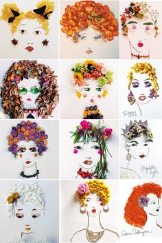 I love this - a world wide movement making portraits out of leaves and flowers.  Started by Justina (http://www.thejungalow.com/2014/05/face-the-foliage.html).
