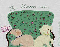 Cani in Cornice: The flower sofa...Daisy's diary...by Gabriella Vantini