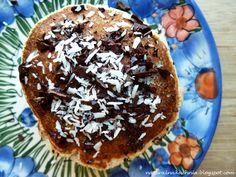 Naturalna kuchnia wegetariańska: Wegańskie placki kokosowo - bananowe (prawie jak twarogowe)