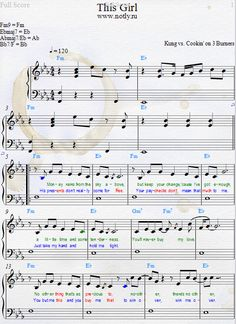 Kungs — This Girl Download PDF Piano Sheet Music (Cookin' on 3 Burners song)