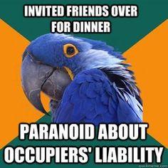 Liability Paranoia! Law School Humor