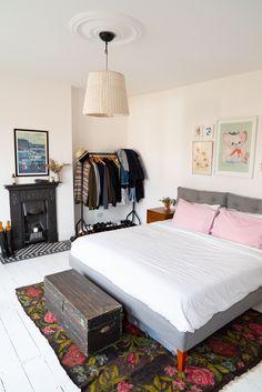 Home Tour: Tiny & The House - The Frugality Victorian Terrace Interior, Victorian House Interiors, Victorian Homes, Home Decor Inspiration, Color Inspiration, Norfolk House, The Frugality, Cozy Bed, Big Houses