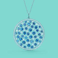 7edee37a7 Tiffany Cobblestone medallion pendant in platinum with sapphires and  diamonds. #TiffanyPinterest Tiffany Jewelry,