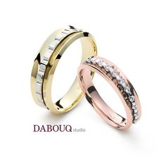 Dabouq Studio Couple Ring - DR0012 - Simple+