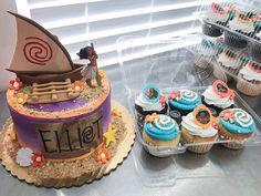 https://flic.kr/p/TF4WAa | Moana Cake + Cupcakes
