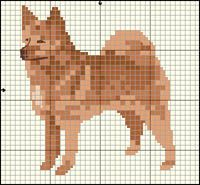 Finnish Spitz Dog Free Cross Stitch / Knitting Pattern