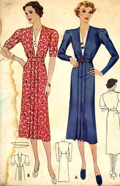 McCall 9306 | 1937 Ladies' & Misses' Dress