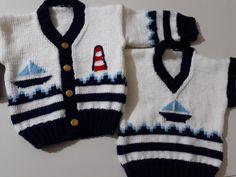 Erkek bebek hırka takım #baby #erkekbebek #örgü #nakosaten #mavi #beyaz #kırmızı #nako #örgühırka #örgüsüveter #denizci #sailorman #hırka
