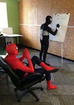 Spiderman and Venom on discussion!