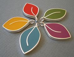 Silver and Resin Leaves by Rebecca Geoffrey, via Flickr