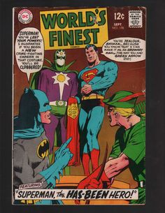 Worlds Finest 178 September 1968 Issue DC Comics By ViewObscura