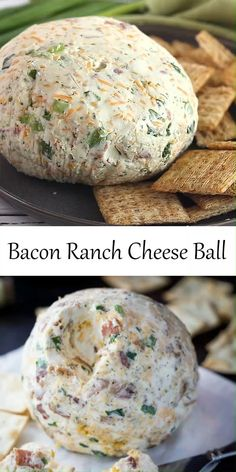 Cold Party Appetizers, Finger Food Appetizers, Yummy Appetizers, Party Appetizer Recipes, Cheese Ball Recipes, Swiss Cheese Ball Recipe, Bacon Ranch Cheese Ball Recipe, Cheese Snacks, Easy Party Food