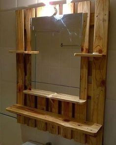 Pallet wood projects diy bathroom 37 New Ideas Diy Bathroom, Towel Rack Bathroom, Bathroom Furniture, Small Bathroom, Towel Racks, Towel Holders, Bathroom Ideas, Pallet Bathroom, Bathroom Organization