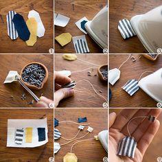 DIY Miniature Tea Bag Shaped Letter Sachet