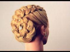 Прическа с плетением на длинные волосы. Hairstyle for long hair