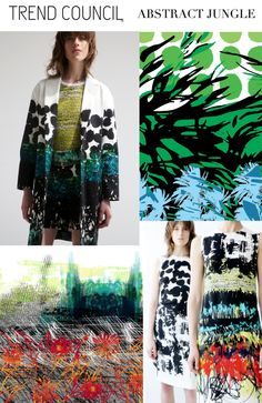 Abstract JUNGLE. swimwear print
