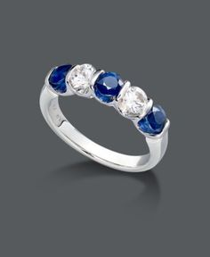 Something blue -- blue and white sapphire ring