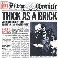 Jethro Tull, Thick As A Brick, 1972, Chrysalis, 43 min.  voto 10  Recensione traccia per traccia dell'album Prog Rock di Ian Anderson, Martin Barre: da Thick As A Brick Part I a Thick As A Brick Part II;