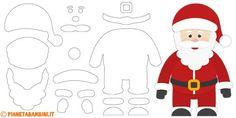 Sagome di Babbo Natale da stampare e ritagliare
