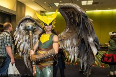 Hawkgirl by Kyra Wulfgar No tutorial, but WOW those wings! - Hobbies paining body for kids and adult Dc Cosplay, Best Cosplay, Cosplay Costumes, Awesome Cosplay, Cosplay Ideas, Cool Pictures, Beautiful Pictures, Homemade Halloween Costumes, Hawkgirl