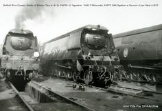 Battle of Britain class Locomotives No. 34017 and 34076 Steam Trains Uk, Southern Trains, Uk Rail, Heritage Railway, Steam Railway, Southern Railways, Bullen, Railway Posters, Train Pictures