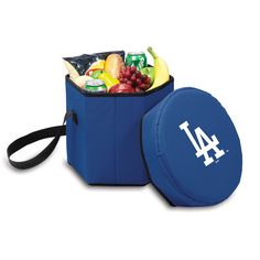 The Los Angeles Dodgers Bongo Cooler from Picnic Time doubles as a tailgating seat