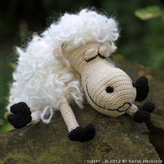 crochet pattern sleepy sheep by Katja Heinlein pdf tutorial amigurumi. $5.95, via Etsy.
