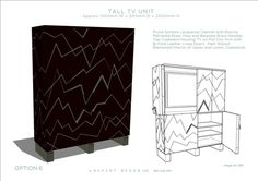 Rupert Bevan - Commissions - Contemporary TV Cabinet