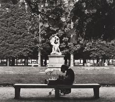 Max Dupain (Born Australia 1911, died 1992) Untitled (woman with pram in Jardin des Tuileries) 1978 From The Paris 'private' series