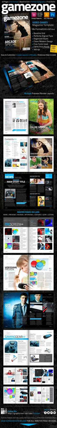 Video Game Magazine Template - Magazines Print Templates