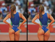 Volleyball player before and after photoshop