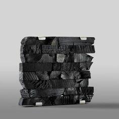 Susanne Elstner | Charcoal and silver brooch
