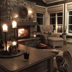 Relaxing at the fireplace Hygge Home, Dere, Log Homes, Interior Design Living Room, My Dream Home, Home And Living, Living Spaces, Sweet Home, House Design