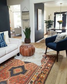 Living room decor, bohemian living rooms, new living room, bohemian Bohemian Living Rooms, New Living Room, My New Room, Living Room Furniture, Bohemian Decor, Living Room Decor Blue, Living Room Decor Eclectic, Living Room Plan, Modern Bohemian