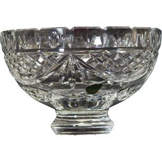 Waterford Society Crystal Penrose 8 inch Bowl  A Waterford Crystal bowl in the Penrose pattern.
