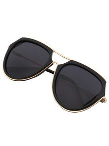 4c0035569e Mixed Frame Black Lenses Sunglasses With Top Bar