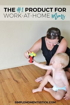I never planned on being a work-at-home mama.  In my dream world I'd be home…