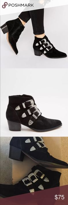 Asos size 9 buckle booties Bought the wrong size , never worn by me ASOS Shoes Ankle Boots & Booties