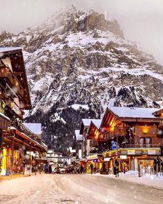 Grindelwald by winter ⛄️❄️Jungfrau - Switzerland // Photography by Senai Senna ( Dream Vacations, Vacation Spots, Best Places In Switzerland, Switzerland Tourism, Switzerland In Winter, Alps Switzerland, Switzerland House, Switzerland Christmas, Switzerland Hotels