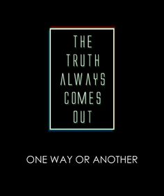 The truth always comes out ... One way or another ... #dancingwithdamien…