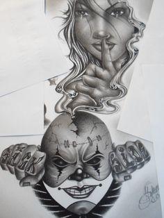jokers, clowns, lowrider arte, chicano art