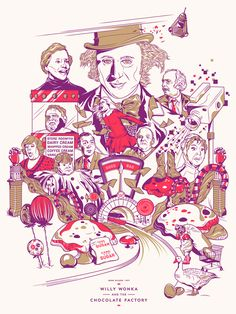 Willy Wonka and the Chocolate Factory -- love this poster! by Matt Chase