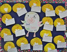 Easter Chick thinking map with Chick craft and writing paper.