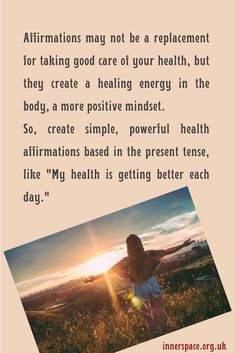 Simple, powerful affirmations to create a healing energy Mind Gym, Positive Mindset, Personal Development, Affirmations, Meditation, Mindfulness, Healing, Positivity, Create